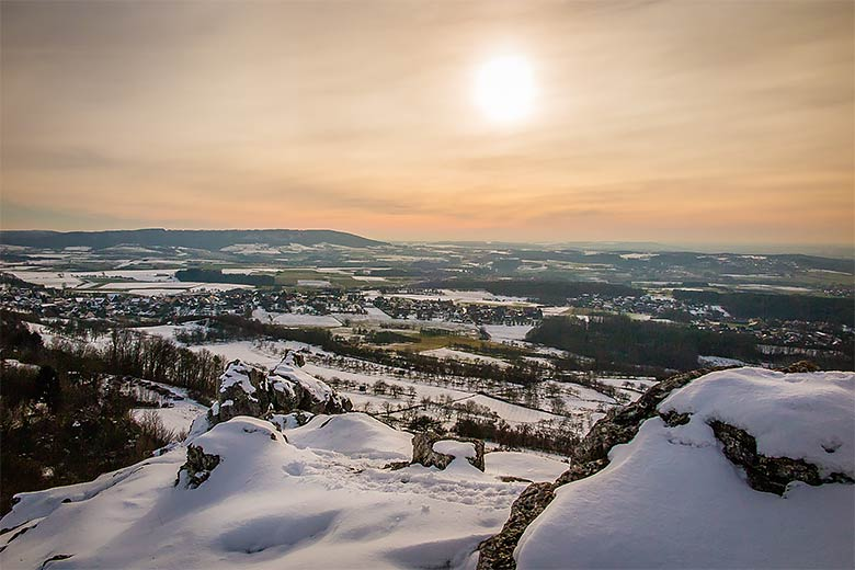 Burg Pottenstein, Winter, Schnee